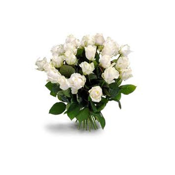 White Rose Bouquets flowers delivery - Flowers Auckland