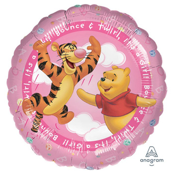 Baby Pooh Helium Balloon for your precious NewBorn flowers delivery - Flowers Auckland