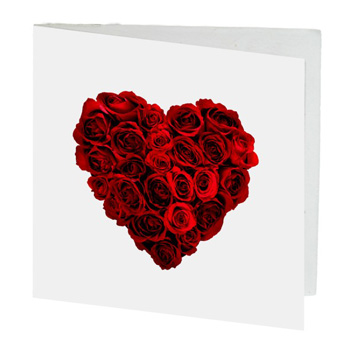 Rose Heart Card flowers delivery - Flowers Auckland