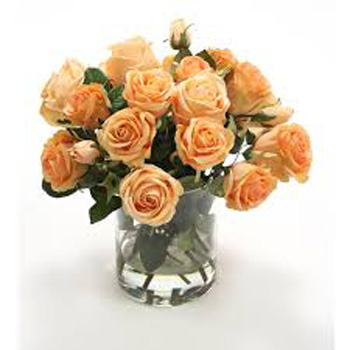 Peach Rose Bouquets flowers delivery - Flowers Auckland