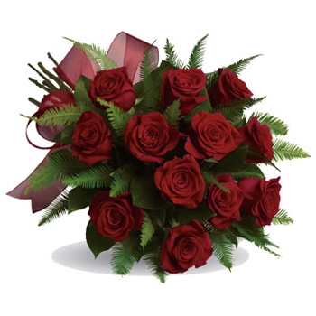 Beautiful Red Rose Bouquet sent Auckland and NZ wide flowers delivery - Flowers Auckland