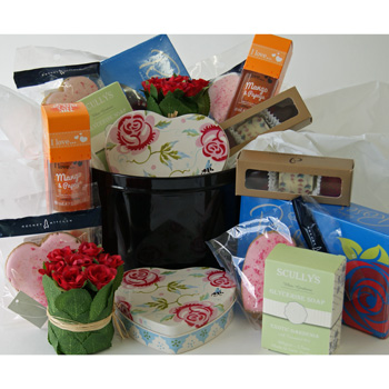 Auckland florist sends gift baskets boxes and hampers for her cake tin of goodies negle Image collections