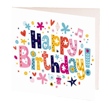 Happy Birthday Gift Card to add to your gift flowers delivery - Flowers Auckland
