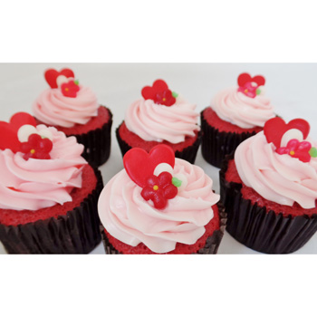 "Valentine's Day Cupcakes, perfect for 'sweet"" sharing flowers delivery - Flowers Auckland"