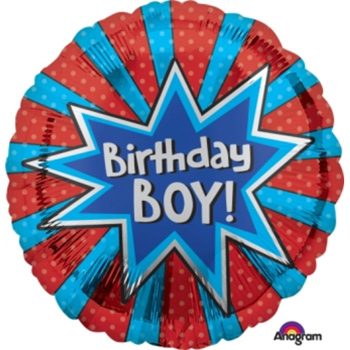Boy's Birthday Helium Balloons are fun to send and receive from Flowers Auckland flowers delivery - Flowers Auckland