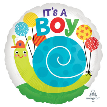 Baby Boy Snail Balloon, flowers delivery Flowers Auckland flowers delivery - Flowers Auckland