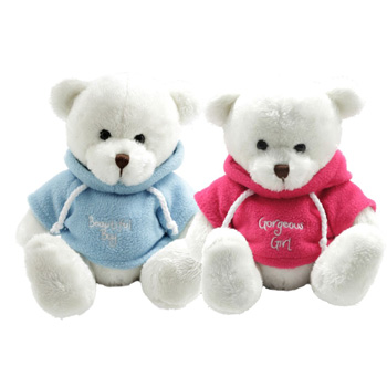 A trendy hoodie Bear for your special New Arrival flowers delivery - Flowers Auckland
