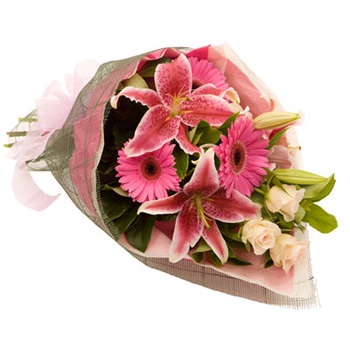 Classic Mix with beautiful Roses, Lilies and Gerberas from Flowers Auckland flowers delivery - Flowers Auckland