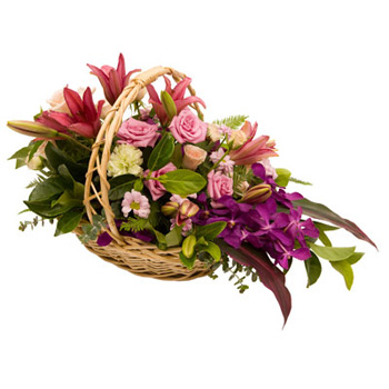 Sympathy Basket for Auckland Flower delivery flowers delivery - Flowers Auckland