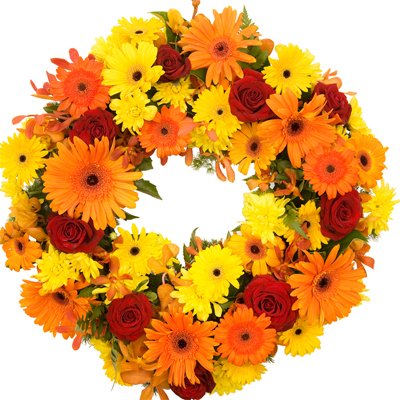 Bright Sympathy Wreath from Flowers Auckland flower delivery flowers delivery - Flowers Auckland