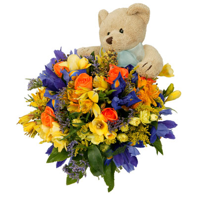 New Baby Bouquet 'n Toy flowers delivery - Flowers Auckland