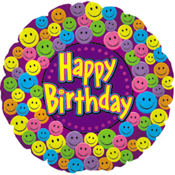 Happy Birthday Smiley Face Balloon for everyone at Flowers Auckland flowers delivery - Flowers Auckland