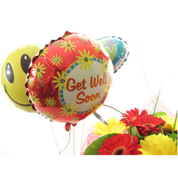 Get Well Balloons flowers delivery - Flowers Auckland