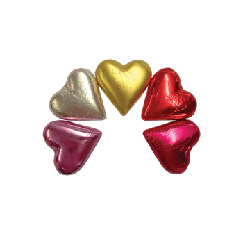foiled heart chocolates from Flowers Auckland flowers delivery - Flowers Auckland