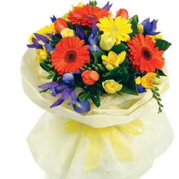 Bright Bouquet from Flowers Auckland