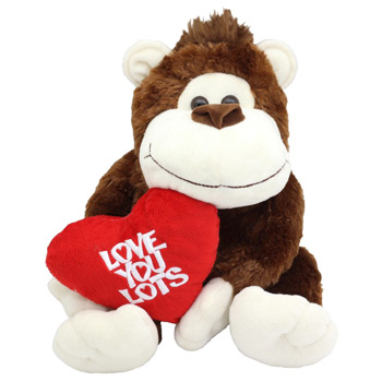 Cute Monkey saying Love You Lots flowers delivery - Flowers Auckland