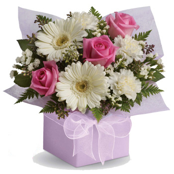 A Sweet Pastel Arrangement at Flowers Auckland flowers delivery - Flowers Auckland