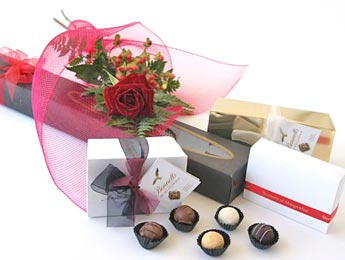 Single Rose and Chocolates for Valentine's Day, Feb 14, Auckland flowers delivery flowers delivery - Flowers Auckland