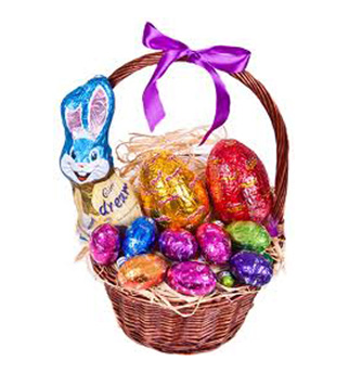 Easter flowers and gifts delivered auckland wide easter egg basket from nz3500 view negle Images