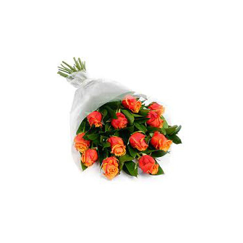 Flowers delivery of Orange Rose Bouquets flowers delivery - Flowers Auckland