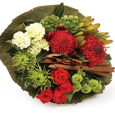 Kiwi Xmas Colour flowers delivery - Flowers Auckland
